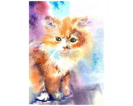 Diamond Embroidery/ Diamond Painting - Kitten
