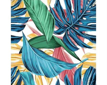 Diamond Embroidery/ Diamond Painting - Tropical leaves