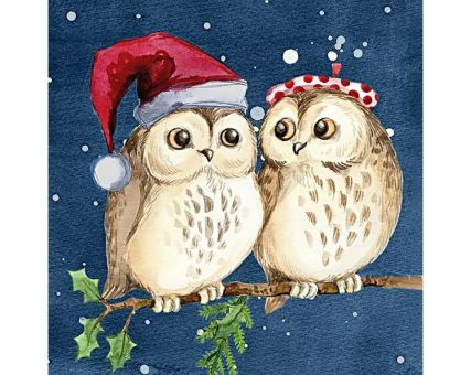 Diamond Embroidery/ Diamond Painting - Owls on a date