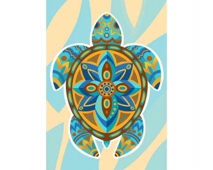 Diamond Embroidery/ Diamond Painting - Colourful turtle