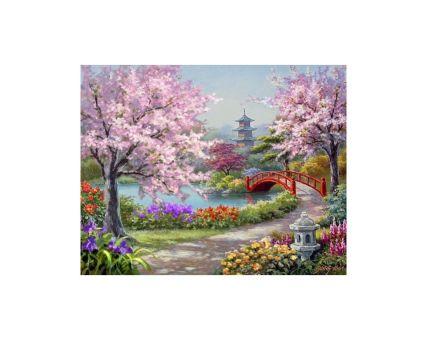 Diamond Embroidery/ Diamond Painting - Japanese garden