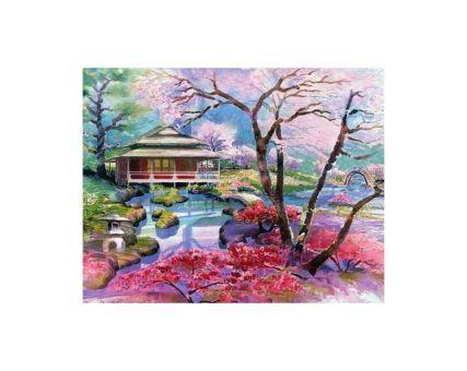 Diamond Embroidery/ Diamond Painting - Colourful sakuras