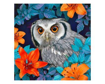 Diamond Embroidery/ Diamond Painting - Owl and lilies