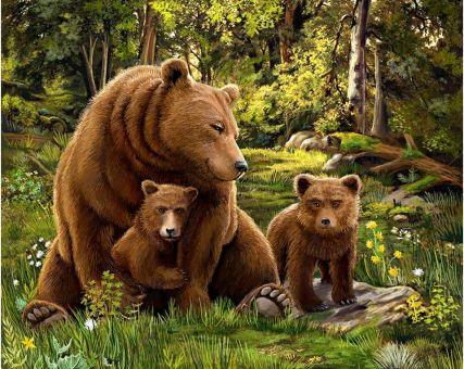 Diamond Embroidery/ Diamond Painting - Bear family