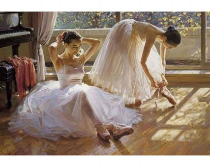 Diamond Embroidery/ Diamond Painting - Two ballerinas