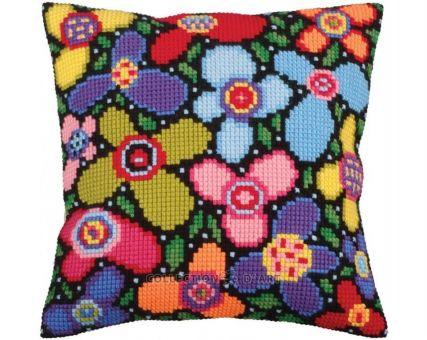 Collection D'Art Kreuzstichkissen - Flower glade