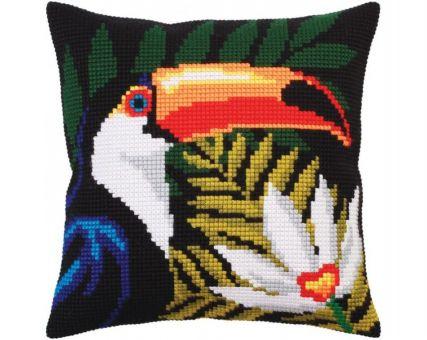 Collection D'Art Kreuzstichkissen - Night jungle