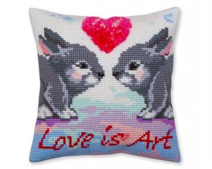 Collection D'Art Kreuzstichkissen - Love is art