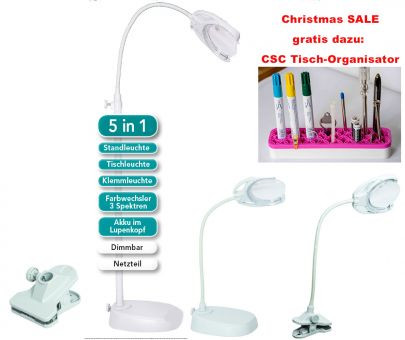 Super SALE - 5 in 1 Ultra – LED Lupenlampe Tri-Spektrum