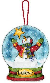 Dimensions - Believe Snow Globe Ornament