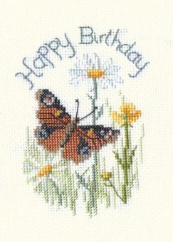 Derwentwater Designs - Greeting Card – Butterfly And Daisies