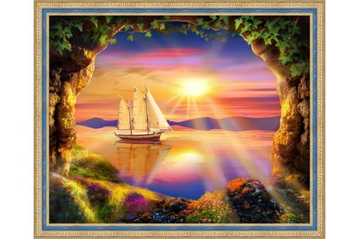 Diamond Painting Artibalta - SHIP AT DAWN