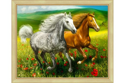 Diamond Painting Artibalta - HORSES ON THE MEADOW