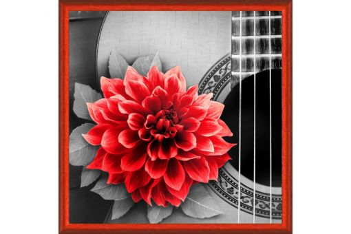 Diamond Painting Artibalta - FLOWER AND GUITAR