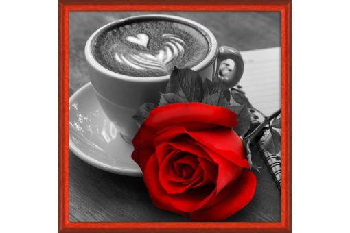 Diamond Painting Artibalta - ROSE AND COFFEE