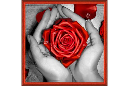 Diamond Painting Artibalta - ROSE IN HANDS