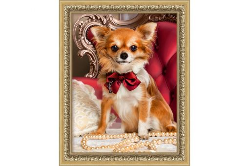 Diamond Painting Artibalta - CHIHUAHUA WITH BOW TIE