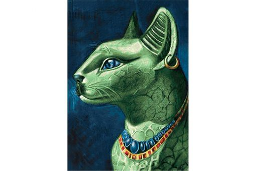 Diamond Painting Wizardi - EMERALD CAT