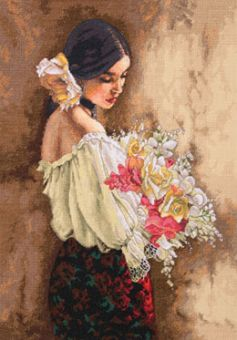 Dimensions Gold Collection - Woman With Bouquet