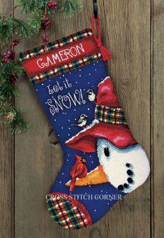 Dimensions Gobelin - Snowman Perch Stocking