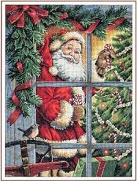 Dimensions Christmas - Candy Cane Santa