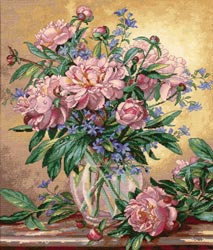 Dimensions Gold Collection - Peonies & Canterbury Bells