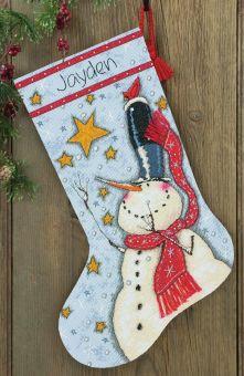 Dimensions - Tall Hat Snowman Weihnachtsstiefel
