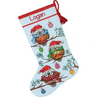 Dimensions - Holiday Hooties Stocking