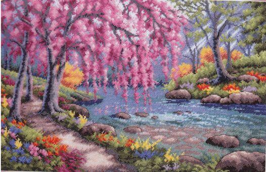Super SALE Dimensions Gold Collection - Cherry Blossom Creek