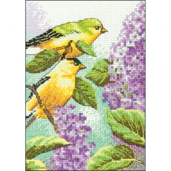 Dimensions - Goldfinch and Lilacs