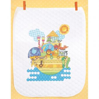 Dimensions Stamped Cross Stitch - Noah's Animals Quilt