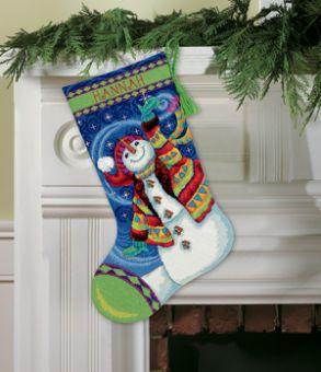 Dimensions Gobelin - Happy Snowman Stocking