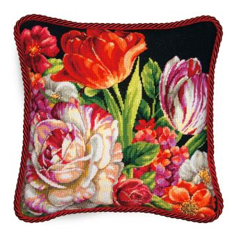 Dimensions Needlepoint - Bouquet on Black