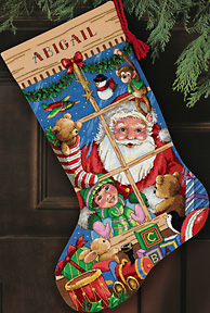 Dimensions Gold Collection - Santa's Toys Stocking