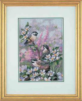 Dimensions Gold Petites - Chickadees in Spring