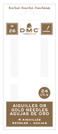DMC 4x 24K vergoldete Sticknadeln - Größe 24