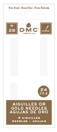 DMC - 4x 24K gold-plated needles size 22