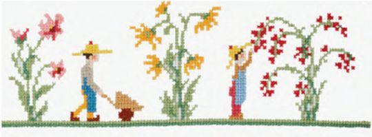 DMC - Vintage Gardening Bookmark