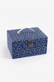 DMC -  Rechteckige Nähbox mit Schublade Fleur Bleues