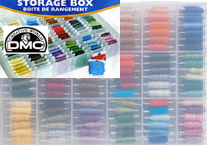 SUPER SALE DMC - Garnbox inklusiv 50 Bobbins Sparen Sie! - 3 x Garnbox