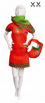 Dress Your Doll - Making Couture - Kleider Set - Twiggy Strawberry
