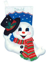 Design Works - Snowman With Top Hat Stocking
