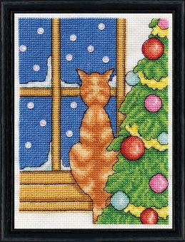 Design Works Crafts - Cat on Windowsill