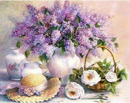 Diamond Embroidery/ Diamond Painting - Lilac