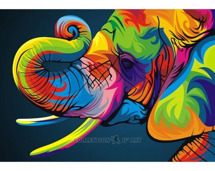 Diamond Embroidery/ Diamond Painting - Rainbow elephant