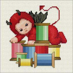 Ellen Maurer-Stroh - Little Stitch Devils With Spools