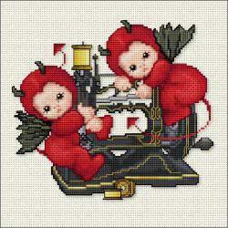 Ellen Maurer-Stroh - Little Stitch Devils On Sewing Machine