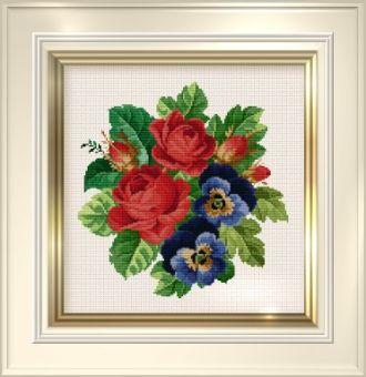 Ellen Maurer-Stroh  -  Roses and Pansies
