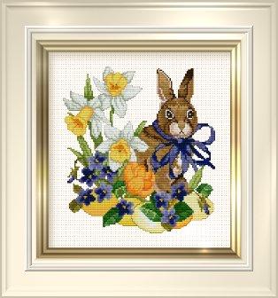 cross stitch corner ellen maurer stroh rabbit. Black Bedroom Furniture Sets. Home Design Ideas