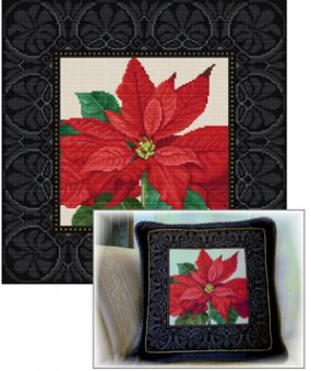 Ellen Maurer-Stroh - Poinsettia Cushion